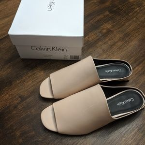 Calvin Klein peep toe shoes size 7